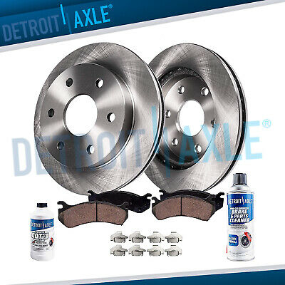Front Disc Brake Rotors & Ceramic Pads Chevy Tahoe Suburban Yukon Caddy Escalade