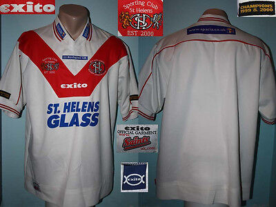Rugby Jersey Shirt Trikot St HELENS Exito 2001 Home Classic Super League Stobart