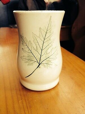 Maple Leaf Nemadji Pottery Forest Line Kettle River Mn Unmarked Vase