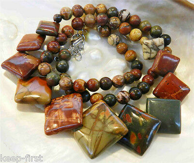 Natural Multicolor Picasso Jasper Round Beads Necklaces 6- 20mm AAA