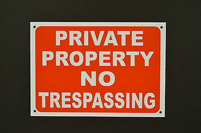 Private Property No Trespassing Plastic Or Metal Sign Or Sticker 2 Sizes