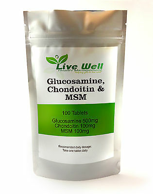 Glucosamine, Chondroitin,& MSM Complex For the joints various pack sizes