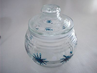 Hand painted Crab air tight jar