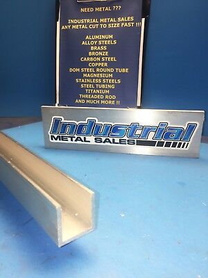 "1-1/4"" x 1-1/4"" x 24""-Long x 1/8"" Thick 6063 T52 Aluminum Channel"
