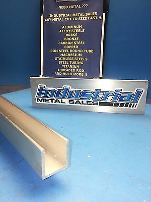 "1-1/4"" x 1-1/4"" x 72""-Long x 1/8"" Thick 6063 T52 Aluminum Channel"