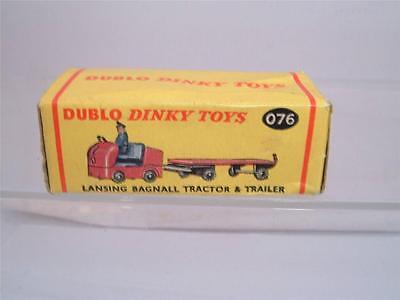 Dublo Dinky 076 Lansing Bagnall Tractor & Trailer Original Empty Box No Models