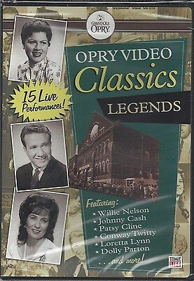 OPRY VIDEO CLASSICS LEGENDS Willie Robbins Dolly Cline Loretta Lynn NEW DVD