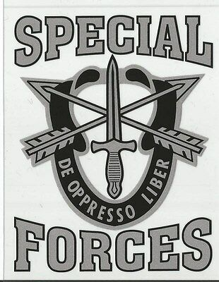 Army Special Forces Decal - Outside Application