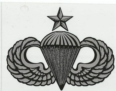 Senior Parachutist / Airborne Wings Decal - Outside Application