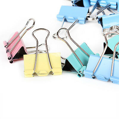 Multi-color Small 25mm Width Metal Binder Clip Clips Office Paper File 48Pcs