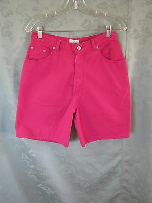Vintage 80's Sasson Size 11 / 12 Hot Pink High Waist Shorts NWT