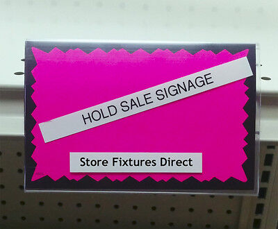 "Clear Plastic Insert Sign Holder for Gondola Shelving 3.5"" x 5.5"" - 10 pieces"