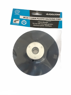 """115mm Rubber Backing Pad 4 1/2"""" For Angle Grinders + Sanders For Fibre Discs"""