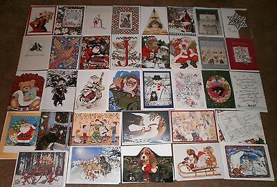 35 LOT NEW Christmas Greeting Cards All Different Unique Elegant Metallic Emboss