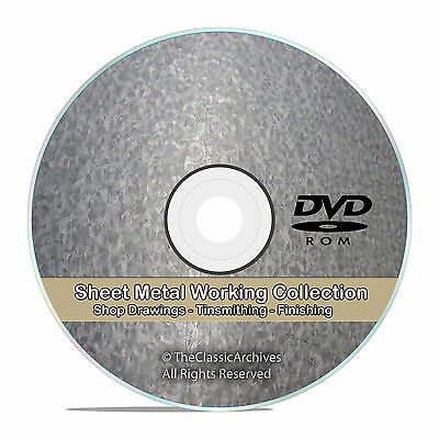 Sheet Metal Work Tinsmithing Pattern Drafting Cutting Shop Library CD DVD V72