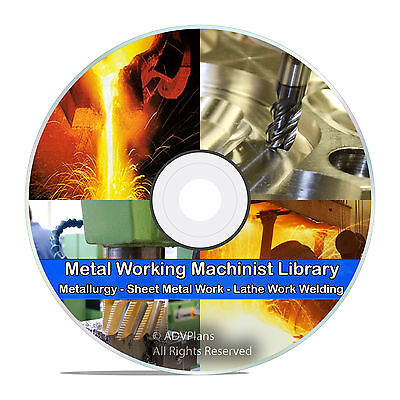 310+ Books, Metalwork Blacksmithing, Lathe Work, Welding, Metal Spinning DVD V68