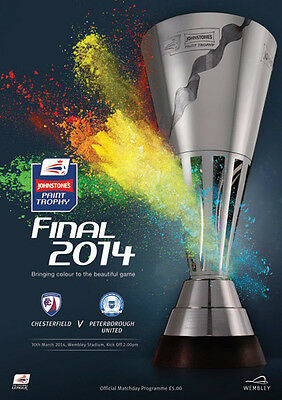 JOHNSTONE'S PAINT TROPHY FINAL  2014: Chesterfield v Peterborough
