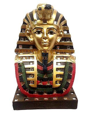 "Ancient Egyptian 6"" Tall King Tutankhamun Figurine Bust Statue Pharaoh Tut"