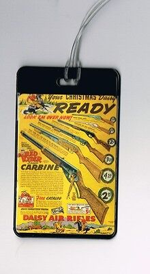 vintage Daisy Red Ryder Air Rifle Ad Luggage Bag Tag