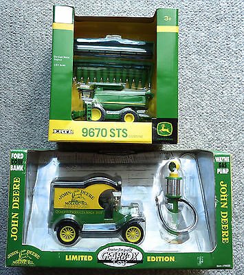 John Deere Ford Coin Bank Gearbox Wayne Gas Pump 1:24/combine 9670 Sts 1:64 New