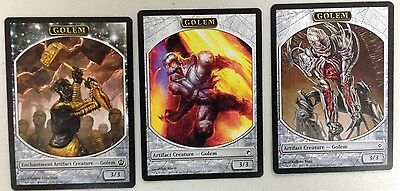 Magic The Gathering Mtg Token Mix Lot : Golem X 100