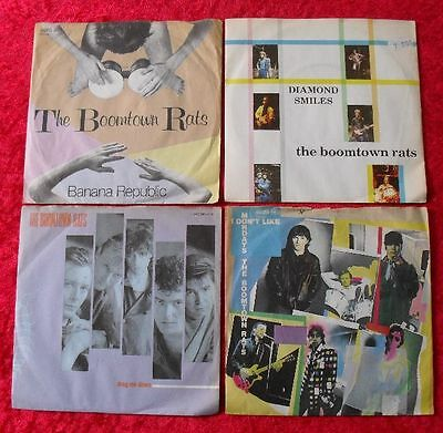 "4 Singles Single 7"" Sammlung von THE BOOMTOWN RATS - Vinyl Schallplatten"