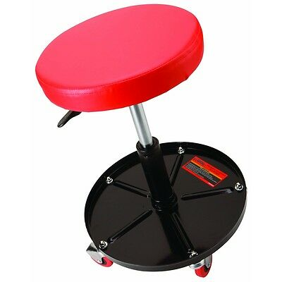 Cushioned Pneumatic Adjustable Roller Seat With 300 lb Capacity & Storage Tray!