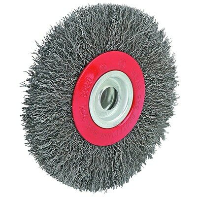 "5"" 6000 RPM Wire Wheel for Bench Grinder to remove rust paint primer & more!"