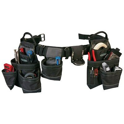 New Durable 21 Pocket Heavy Duty Cowhide & Nylon Tool Belt holds tools parts etc