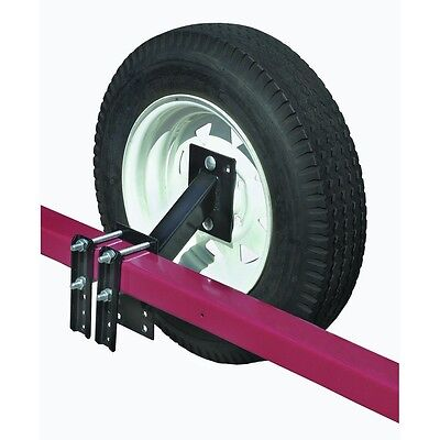 Heavy Duty Trailer Spare Tire Carrier Mount Rack Fits 4 or 5 lug tires!