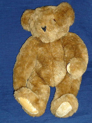 """16"""" plush jointed naked Brown VERMONT TEDDY BEAR"""