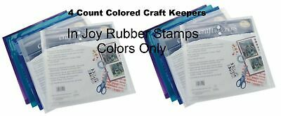 4-24 ct Generations Craft Keepers Acid-free Paper Storage Envelopes Mixed Colors