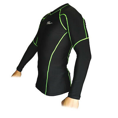 Compression Skins Long Sleeves Gym Cycling Running Exercise Sport Bikes S M L Xl