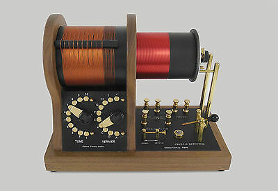 A-Runner Loose Coupler Crystal Radio- American Walnut
