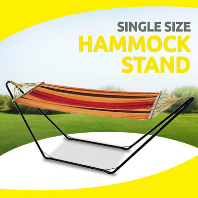 Hammock Stand Single Size, Steel Frame Stand Only for Outdoor Garden Yard Swing