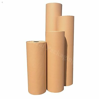 Strong BROWN WRAPPING PAPER Kraft Rolls (88gsm) for Packing and Posting Parcels