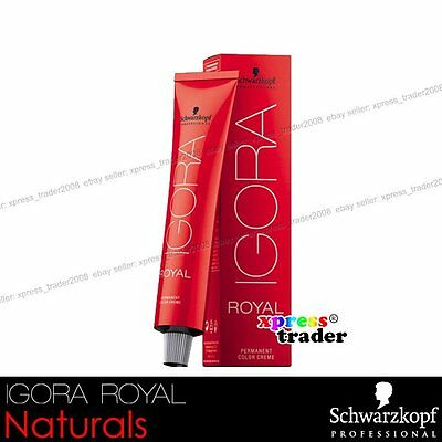 Schwarzkopf Professional IGORA ROYAL Permanent Colour Hair Dye 60ml Naturals
