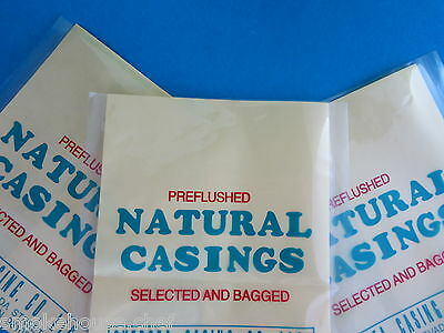 THREE PACKS of Natural Hog Pork Casings Casing for Sausage  XL for 300+ lbs meat