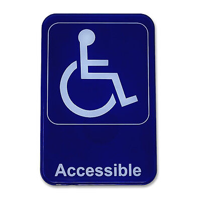 "Handicap Accessible Sign - Wheelchair Handicapped Accessible Sign 6"" x 9"""