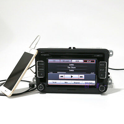 RCD510 Radio iPhone USB Rear View Image For VW Jetta Golf Tiguan EOS