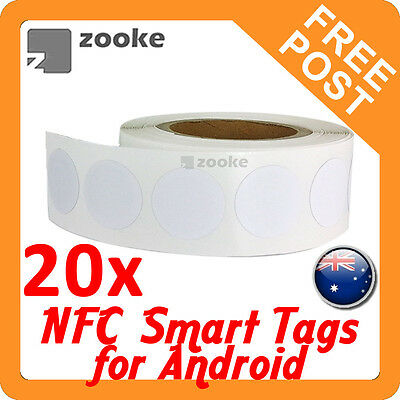 20x NFC NTAG203 Smart Tag Sticker for Samsung, Nexus, Sony - Android Devices