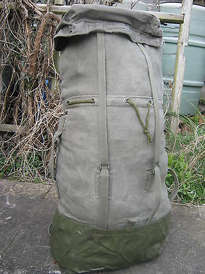 French Army 65 Litre Canvas Backpack Military Surplus Large Rucksack LTR Kit Bag