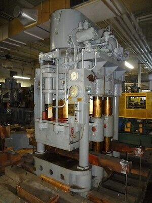 900 Ton  Birdsboro 4-Post Down-Acting Hydraulic Press - #27135