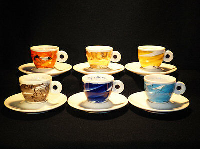 Illy Collection 1999 Serie Schwung Peter Roesch Tazzine Espresso Cups
