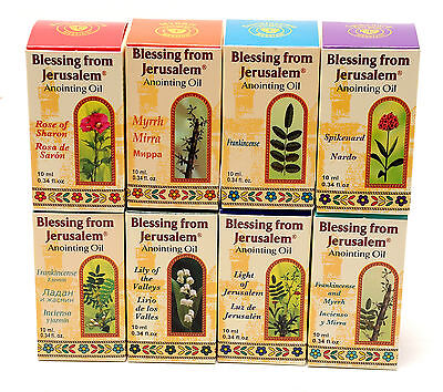 Lot Of 8 x Anointing Oil 10 ml.From Holyland Jerusalem.GREAT VALUE PACK
