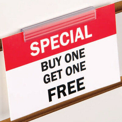Slatwall Economy Sign Holder - Slatwall PVC Sign Holder - 10 Pieces
