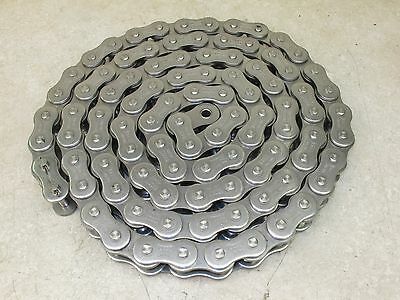 Stainless Steel  Roller Chain,  100-Ss,   10',  With Connector Link,  Tsubaki