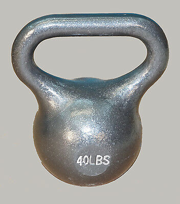 TDS Fitness 40 lb. Kettlebell with Extra Wide Handle for Two Hand Workout