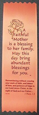 """""""A Faithful Mother is a blessing..."""" Pack of 50 Mother's Day ribbon bookmarks"""