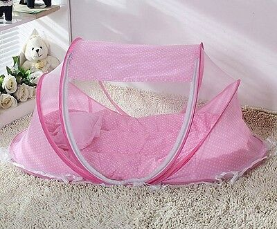 2 Color Portable and foldable Infant bed Mosquito Net Pop up Bubble Cot Bassinet